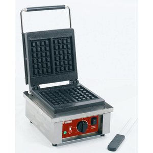 Diamond Waffle Iron Liege Waffles - with cast iron plate - 305x440x (h) 230mm - 1.5KW