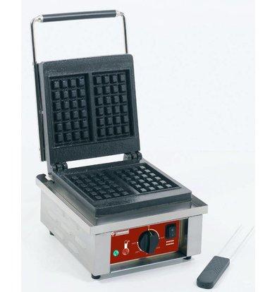 Diamond Wafelijzer Luikse Wafels - met Gietijzerenplaat - 305x440x(h)230mm - 1.5KW