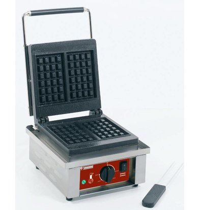 Diamond Waffle Iron Liege Waffles - with cast iron plate - 305x440x (h) 230mm - 1.5KW