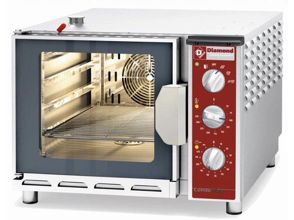 Diamond Convection Oven with Steam Combined - 600x884x480 (h) mm - 4x 1/1 GN