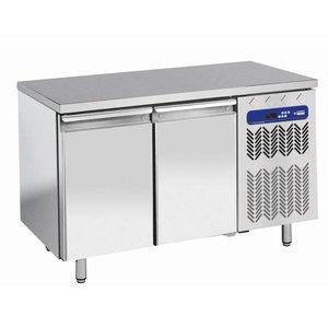 Diamond Freeze-Workbench aus Edelstahl - 2 Türen - 260 Liter | Temperatur: -10 ° / -20 ° C | 136x70x (h) 88 / 90cm