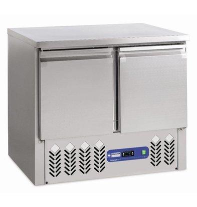 Diamond Freeze Workbench Stainless Steel - 2 door - 240 liters - 95x70xh85 / 87cm