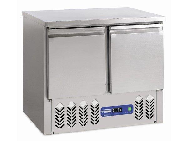 Diamond Freeze-Workbench aus Edelstahl - 2 Türen - 240 Liter - 95x70xh85 / 87cm