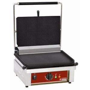 Diamond Kontaktgrill Einzel | Gerippte / Glatte | 430x385x (H) 220mm | 3 kW