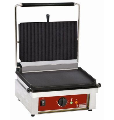 Diamond Contactgrill enkel | Geribd/Glad | 430x385x(h)220mm | 3 Kw