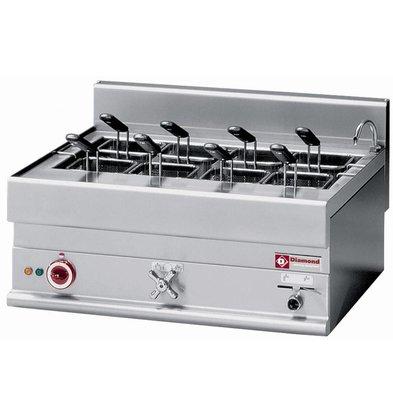 Diamond Pastakoker Elektrisch RVS 40 Liter | Tafelmodel | 400V | 9kW | 700x650x(H)280/380mm