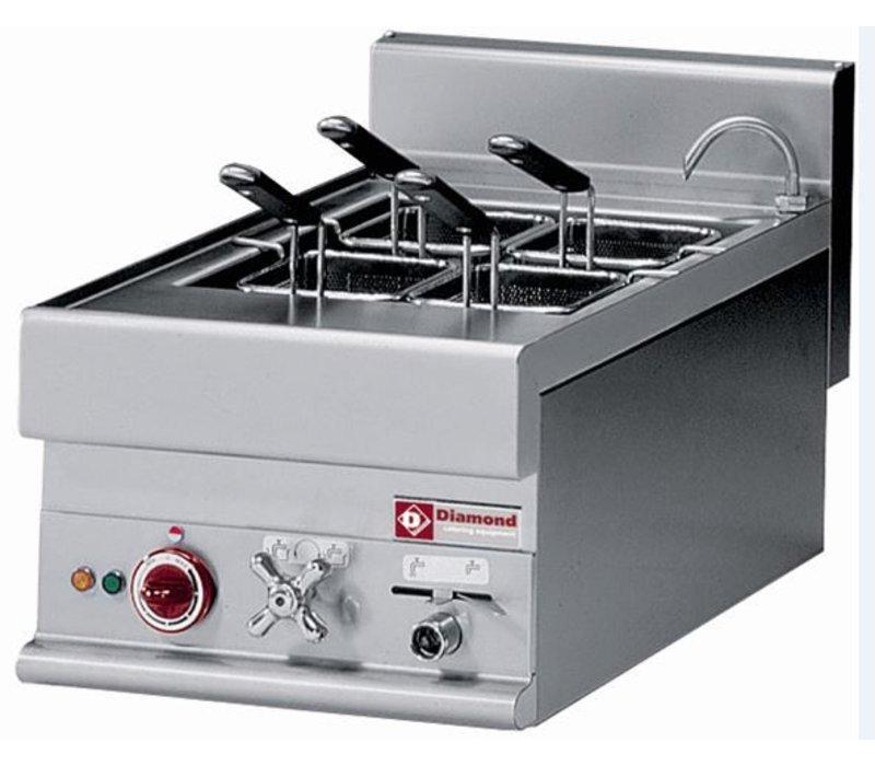 Diamond Nudelkocher Elektro Edelstahl | 20 Liter Tabletop | 400V | 6kW | 400x650x (H) 280 / 380mm