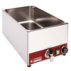 Diamond Bain Marie | 1/1 GN | Tabletop | With drain valve | 1,5kW | 330x530x (H) 240mm