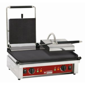 Diamond Contact Grill double | Ribbed / Smooth | 600x385x (H) 220mm | 4Q