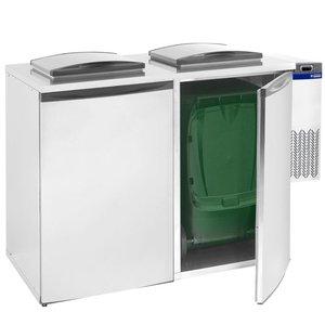 Diamond Afvalbak cooler - Double - 146x87x (h) 129cm