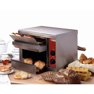 Diamond Go through Toaster 540 per hour - two heating elements - 45x53x (H) 34,5cm - 2300W