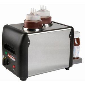 Diamond Chocolade saus verwarmer 2 Flessen  | 2 x 1 liter | 310x2105x(h)230mm | 340W