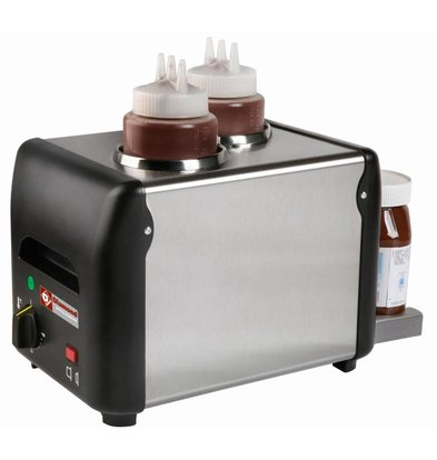 Diamond Chocolate sauce heater 2 Bottles | 2 x 1 liter | 310x2105x (H) 230mm | 340W