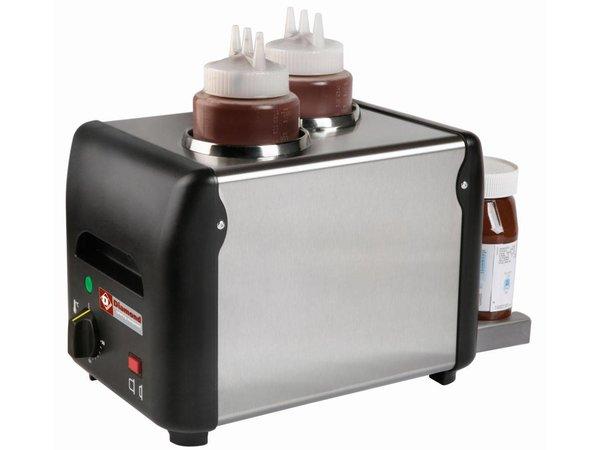 Diamond Schokoladensauce Heizer 2 Flaschen | 2 x 1 Liter | 310x2105x (H) 230mm | 340W