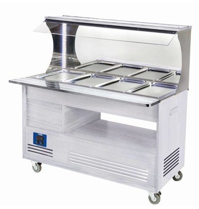 Diamond Bain Marie Wall Buffet 4 x 1/1 GN Weiß
