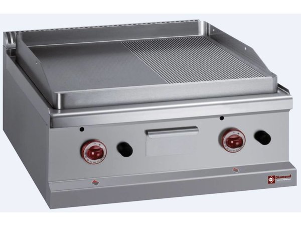 Diamond Gas griddle Smooth / Ribbed - 65x50cm
