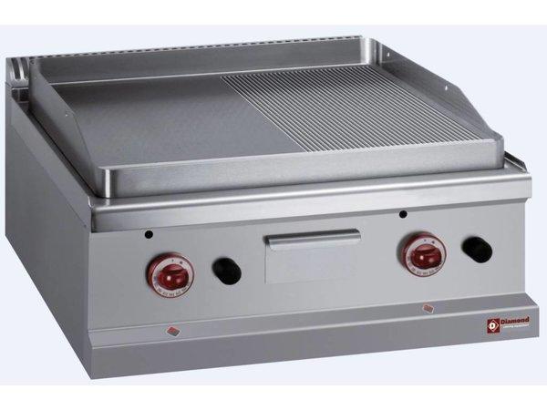 Diamond Gas Grillplatte glatt / Gerippte - 65x50cm