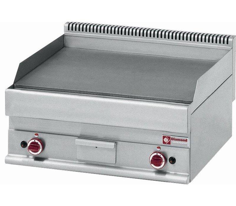 Diamond Gas Grillplatte - glatt - 70x65x (h) 28 / 38cm