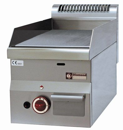 Diamond Gas Bratpfanne - glatt - 30x60x (h) 28 / 40cm