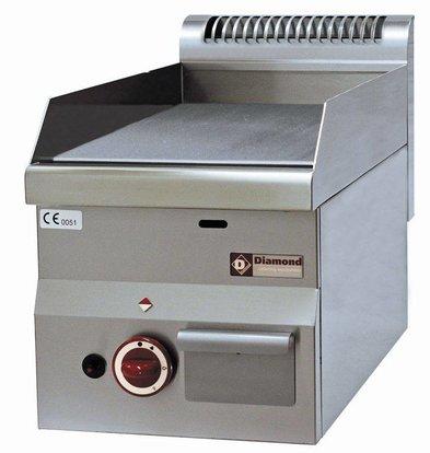 Diamond Gas griddle - smooth - 30x60x (h) 28 / 40cm