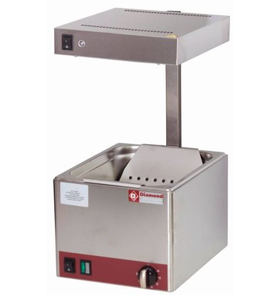 Diamond Frites Warming Device - Infrared - 1 / 2GN - 270x330x (H) 500mm