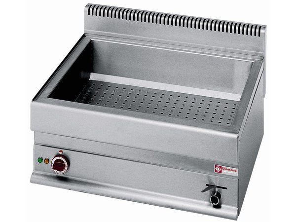 Diamond Bain Marie | Stainless steel | 2/1 GN | Tabletop | 650x535x (H) 175mm