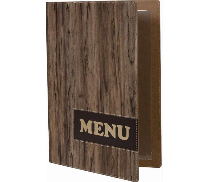 Securit Menumap Design - Wood A4
