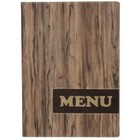 Securit *NEW* Menumap Design - Wood A4