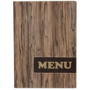 Securit * NEW * Design menu folder - Wood A4