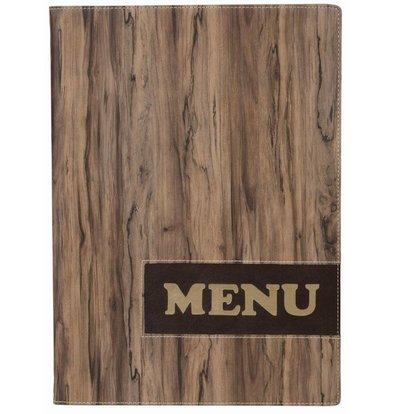 Securit * NEU * Design-Menü-Ordner - Holz A4