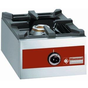 Diamond Gas burner 1 Burner | tabletop | 360x480x (H) 260mm