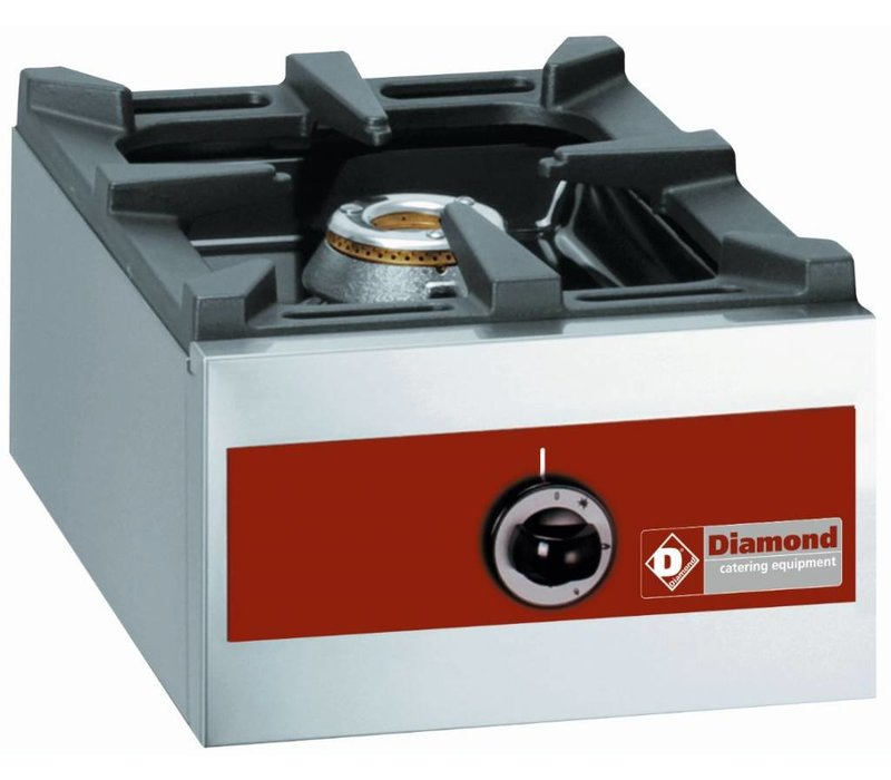 Diamond Gasbrenner 1 Brenner | Tischplatte | 360x480x (H) 260mm