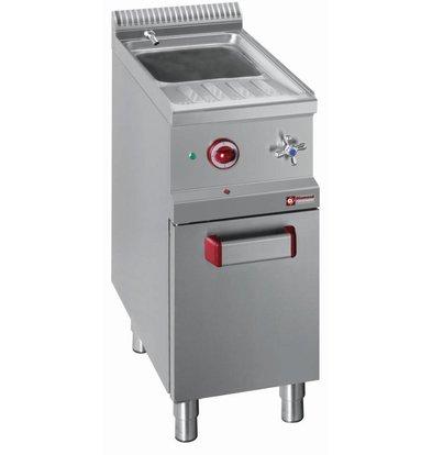 Diamond Pasta Cooker Gas RVS | 26 Liter | 1 / 1GN | Substructure | 400x700x (H) 850 / 1000mm
