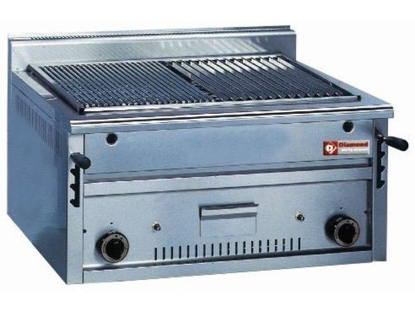 Diamond Lava Rock Grill Gas RVS - Tabletop - Schedule D form - 80x70x (h) 40 / 48cm - 12KW