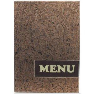 Securit Design menu folder - Paisley A4