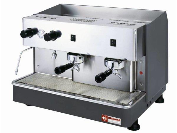 Diamond Espressomaschine 2 Gruppen Automatik | 2,9kW | 650x530x (H) 430mm
