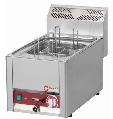 Diamond Nudelkocher Elektro Edelstahl | 1/2 GN | Ablassventil | Tischplatte | 230 | 330x600x (H) 290mm