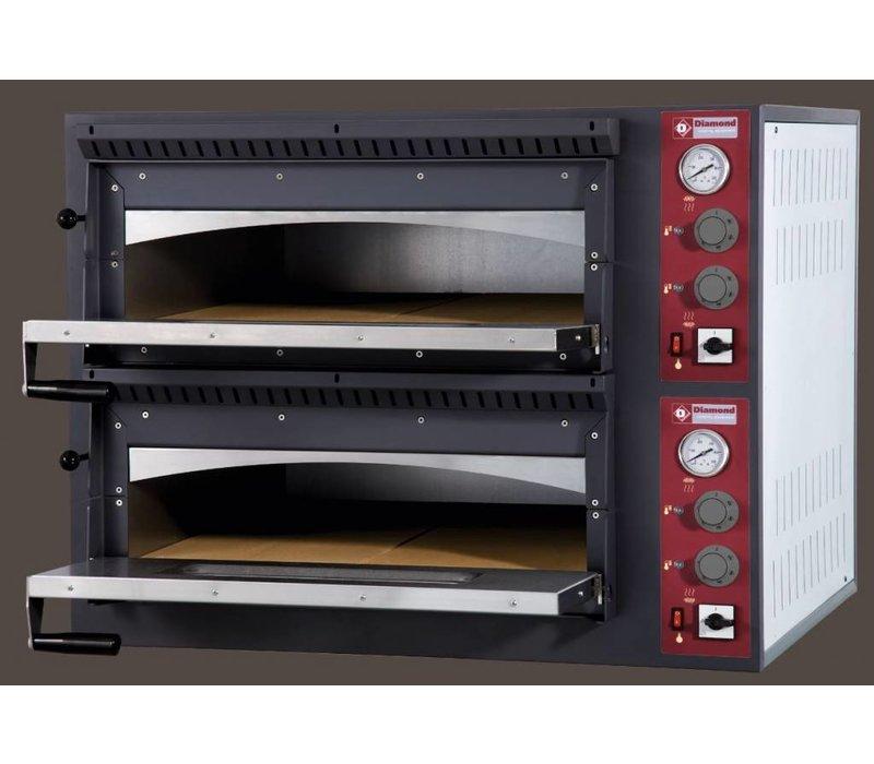 Diamond Pizza-Ofen Ladungsdoppel | 2 x 6 Pizzen Ø33cm | 14,4kW | 980x1210x (H) 750mm