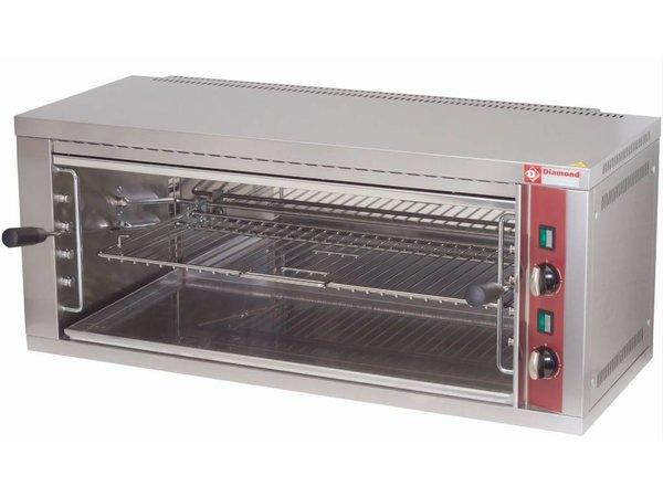Diamond Salamander - 1 grid - with Timer - 88x35x (h) 40cm - 4.4KW