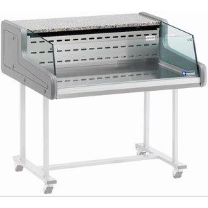 Diamond Vitrine Toonbank   Gekoeld  +4°C / +6°C   Self-Service   1000x930x(H)345mm