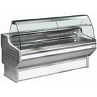 Diamond Vitrine Toonbank | Werkblad in Graniet | Gekoeld 0° / 2° | 2000x930x(H)1270mm