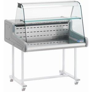 Diamond Verkaufsvitrine | Gekühlt + 4 ° / + 6 ° | Zwei Ebenen | 1000x930x (H) 660mm