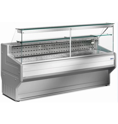 Diamond Counter display case | Worktop in Granite | Chilled + 4 ° / + 6 ° | Right Pane | 2500x800x (H) 1220mm