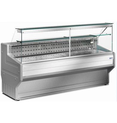 Diamond Vitrine Toonbank Gekoeld Rechtruit | Temperatuur: +4° / +6° |  2000x800x(H)1220mm