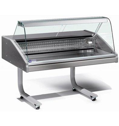 Diamond Gegenkühlvitrine | Arbeitsplatte aus Edelstahl | Fisch | 0 ° / 2 ° | 1500x980x (H) 1280mm