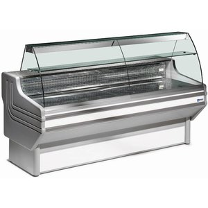 Diamond Counter display case | Presentation Journal in stainless steel | Chilled 4/6 Degrees | 1500x930x (H) 1270mm