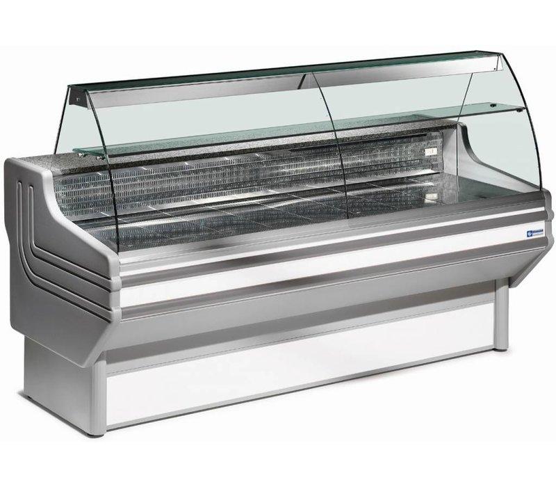 Diamond Vitrine Toonbank | Presentatieblad in RVS | Gekoeld 4 / 6 Graden | 1500x930x(H)1270mm