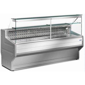 Diamond Stellen Zähler | Gekühlte + 4 ° / + 6 ° | Rechten Bereich | 1500x800x (H) 1220mm