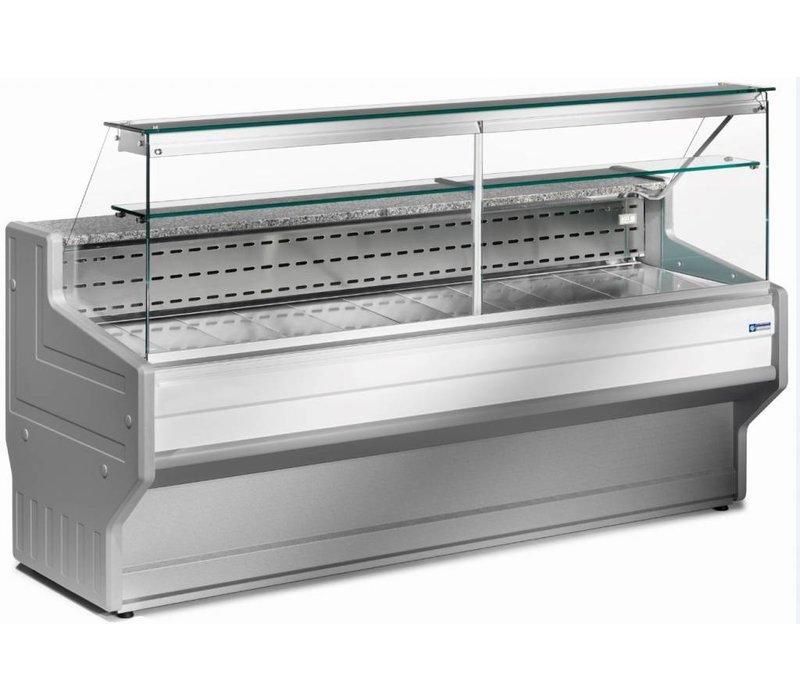 Diamond Vitrine Toonbank   Gekoeld +4° / +6°   Rechtruit   1500x800x(H)1220mm