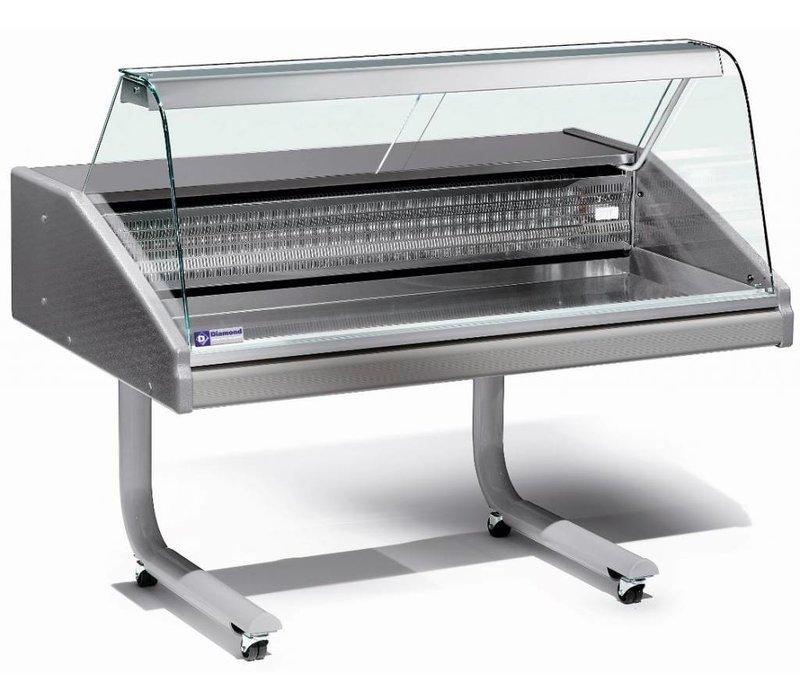 Diamond Vitrine Toonbank Gekoeld | Vis | 0 / 2 graden | 1000x980x(H)1280mm